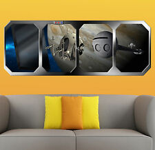 2001 a SPACE ODYSSEY   JUPITER  ALIEN CONTACT   !!!    GIANT WINDOW VIEW  POSTER