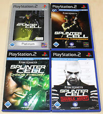 4 PLAYSTATION 2 PS2 SPIELE SAMMLUNG TOM CLANCY'S SPLINTER CELL CHAOS PANDORA