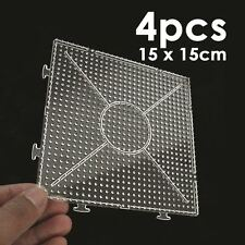 4pcs ABC Clear Square Large Pegboards Board For Hama Fuse Perler Beads 145x145mm