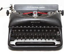 Remington De Luxe Model 5 Manual Portable Typewriter + Case & New Ribbon 1940s