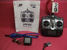 *GREAT* JR TRANSMITTER RADIO SYSTEM Tx XP6102 FM 6CH Rx 6CH RS600 CH29 W/CHARGER