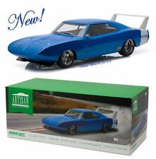 GREENLIGHT 19019 1969 Dodge Charger Daytona Custom - Blue with White Wing 1:18