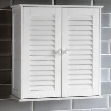 Armadietto da bagno a parete doppia porta dell' otturatore BIANCO Storage by Home Discount