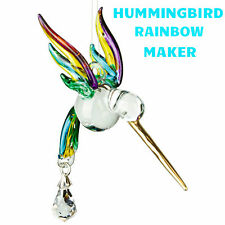 Woodstock Rainbow Maker Hand Blown & Painted Glass Hummingbird Summer CHRAI