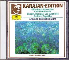 Karajan: Offenbach Gaite PARISIENNE CHOPIN LES SYLPHIDES Delibes Coppelia CD