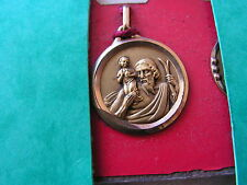 medaille   religieuse ancienne plaque or neuve