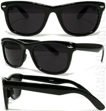 Medium/Large Horn Rim Super Dark Lenses Sunglasses Retro Black 1SD