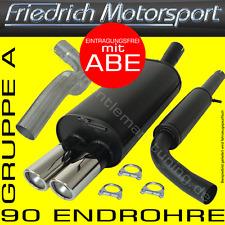 FRIEDRICH MOTORSPORT ANLAGE AUSPUFF Opel Astra F Cabrio 1.4l 1.6l 1.8l 16V 2.0