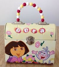 The Tin Box Company Dora the Explorer Classic Purse Beaded Handle Lunchbox