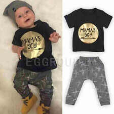 Various 2pcs kids baby boys T-shirt + pants Infant Cotton Clothes Outfits Sets