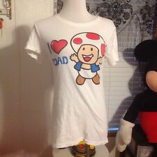 BAY ISLANd SHIRT SIZE LARGE SUPER MARIO BROTHERS I LOVE TOAD
