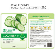 Jluna Korean Cosmetics Natural Plant Essences Face Mask Pack 1PC Cucumber