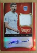 15-16 Panini Select Red Prizm Steven Gerrard Signature Jersey Auto 13/15!!HOT!!