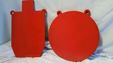"""SWINGS & RINGS COMBO 1/2 Scale IPSC Torso and 12"""" GONG AR500 3/8' STEEL TARGETS"""