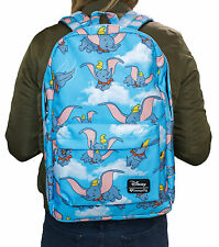 Loungefly Disney Dumbo the Elephant Flying Blue Girls' Laptop School Backpack