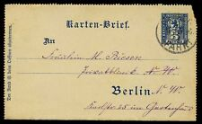 Germany Berlin local packet post letter card used 1896 complete with message