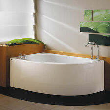 NEPTUNE WIND 60x36 CONTEMPORARY CORNER BATH TUB SOAKER (NO WHIRLPOOL)