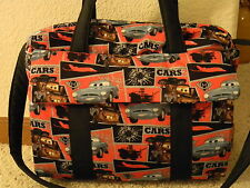 Disney CARS 2 custom handmade Diaper Bag with ch pad by EMIJANE free embroidery