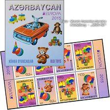 Aserbaidschan Azerbaijan Europa CEPT 2015, Spielzeug/Toys, Markenheftchen ** pf.