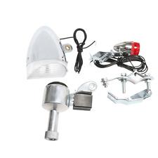 Bicycle Motorized Bike Friction Generator Head Tail Light lamp Headlight 6V 3W