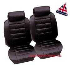 Alfa Romeo 156 (1998-06) Luxury Padded Leather Look Car Seat Covers - 2 x Fronts