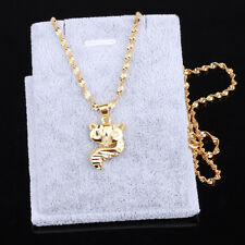 New Fashion Jewelry 24K gold Yellow Filled plated Necklace Fox Pendant Chain