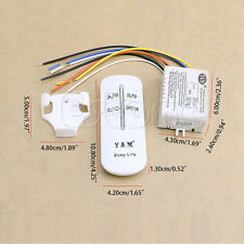 220V sans fil 3 voies ON / OFF lampe Switch Remote Control Receiver Transmitter