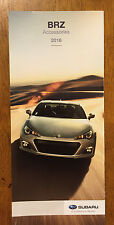 2016 Subaru BRZ accessories brochure catalog