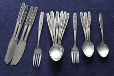 Oneida FLORAL PANEL Northland Stainless 17 Piece Lot Flatware Silverware