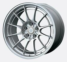 18 ENKEI NT03+M SILVER RIMS 18x10.5 +30 5x114.3 (4 NEW WHEELS)