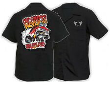 OLD CHEVY NEVER DIES Hot Rod Rockabilly WORK SHIRT V8 LIMITED EDITION Mega Rare