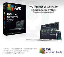 AVG Internet Security 2015 - 2 Computers / 2 Years Protection | License Key Only
