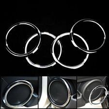 Chrome Trim Speaker Ring Cover Auto Direct Fit Jeep Compass Patriot 2008 - 2015