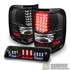 Blk 2004-2008 Ford F150 LOBO LED Tail Lights+LED 3rd Brake Light Cargo Stop Lamp