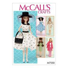 McCALL'S SEWING PATTERN CRAFTS CLOTHES & ACCESSORIES FOR 11 1/2 DOLL M7550