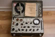 TV-7 B/U Military Hickok Designed Mutual Conductance Tube Tester WORKS, EX COND!