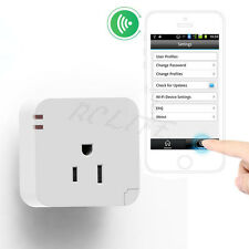 Wireless US WiFi Phone Remote Repeater Smart AC Plug Outlet Power Switch Socket
