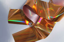"""""""Holographic Gold"""" Transfer nail art foil 1 meter"""