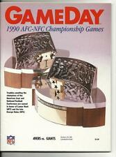1990 NFC Championship Program 49ers Giants