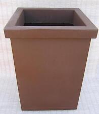 Bac carré marron 45x45cm, hauteur 60cm, 84 litres