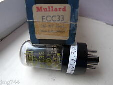 ECC33 MULLARD YELLOW PRINT  BLACK BASE SMOKE GLASS   NOS VALVE TUBE  A13-2