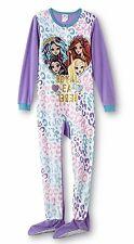 Ever After High Pajamas Size 14/16 XL Girls Onesie Fleece Zip Up Footed Zipper