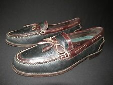 H.S. Trask Two Tone Leather Tasseled Loafers, Men's 14M