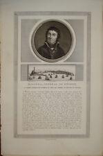 Stampa incisione Andre Massena Napoleone Militaria genova gravure old print