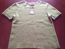 Abercrombie & Fitch A&F Green Short-Sleeve Logo Sweater Small S