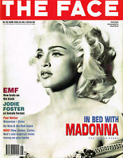 THE FACE 06/1991 IN BED WITH MADONNA Jodie Foster EPSOM MAD FUNKERS Paul Weller