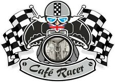 STD CAFE RACER Ton Up Club Bacino Testa Bobber retrò MOTO CASCO STICKER