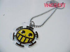 One Piece Trafalgar Law Necklace Death Surgeon Logo Yellow Pendant Necklace Gift