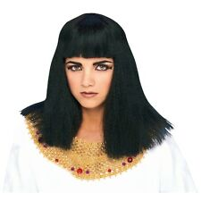 Black Ladies Cleopatra Wig - Egyptian Queen Fancy Dress Costume Outfit Accessory