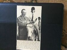 c4-2 ephemera 1960s ramsgate donkey derby winner with mayor